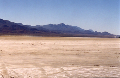 Nevada dry lake bed