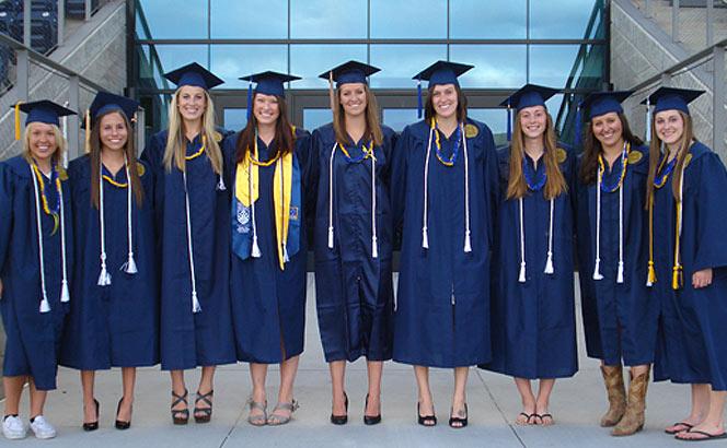 Women's soccer graduates
