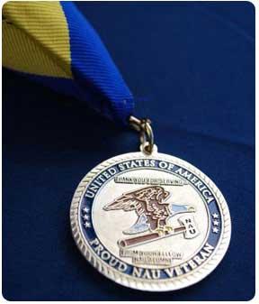 NAU alumni veterans medal
