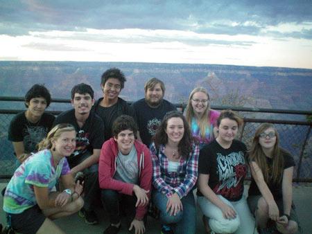 Outdoor recreation students