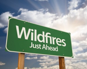Wildfires just ahead