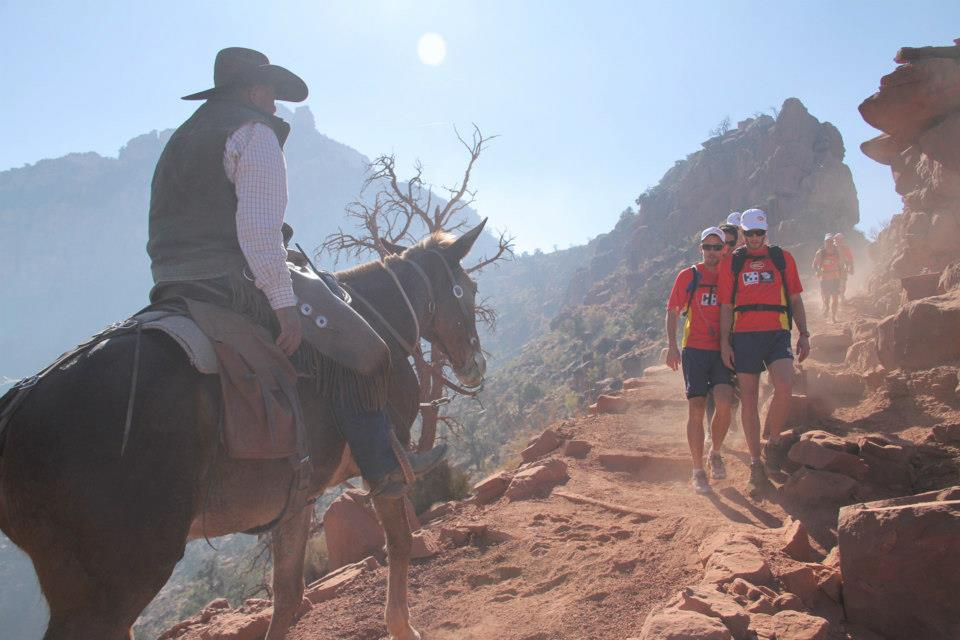 Gold Coast Suns hiking Grand Canyon