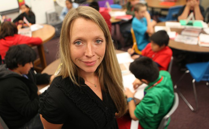 Lee Irby, NAU alumna and sixth grade teacher recently selected as a 2013 Rodel Exemplary Teacher