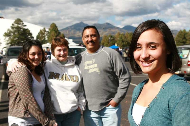 NAU student and her family