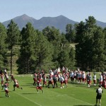 Peaks view at Cardinals practice