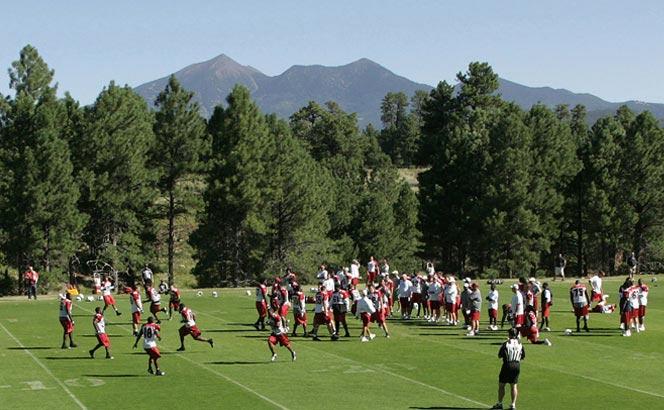 Peaks view at Cardinals practice