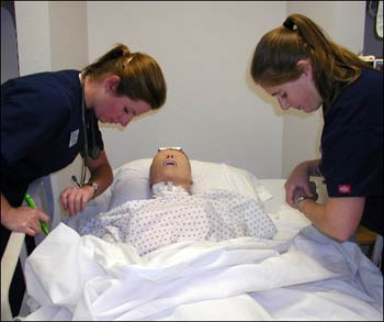 NAU nursing students real-life training