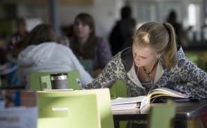 Student studying at NAU.
