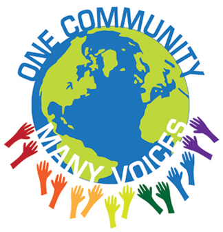One Community Many Voices Logo