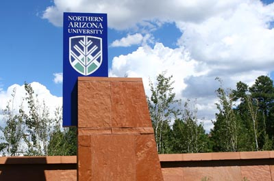 NAU entrance sign