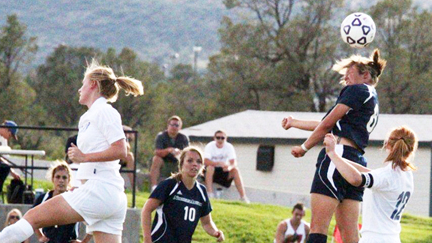 NAU soccer player in action