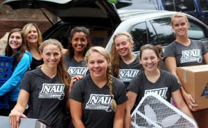 Students help with move-in
