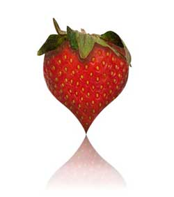 Heart strawberry