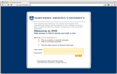 Sample phishing website