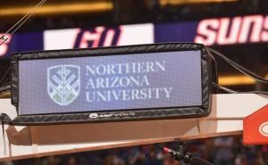 NAU sign at Suns game