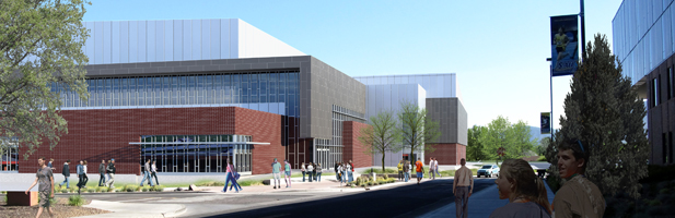 Artist's rendering of the Center for Aquatics and Tennis