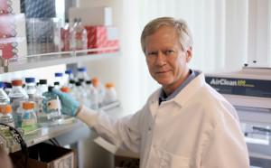 Paul Keim in his lab.