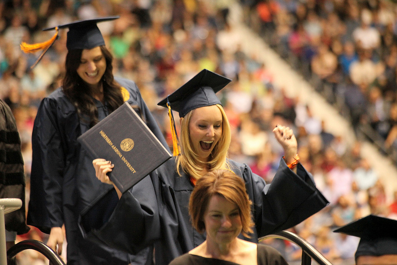 It\'s time to celebrate as 5,000 Lumberjacks don caps and gowns - NAU ...