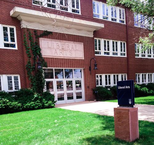 NAU Liberal Arts building front entrance