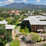 Aerial panorama of NAU central campus