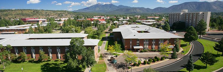 Aerial panorama of NAU central campus