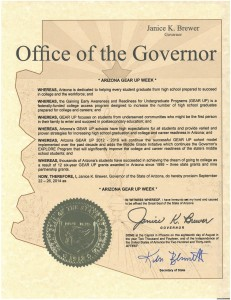Office of the Governor Arizona Gear Up Week