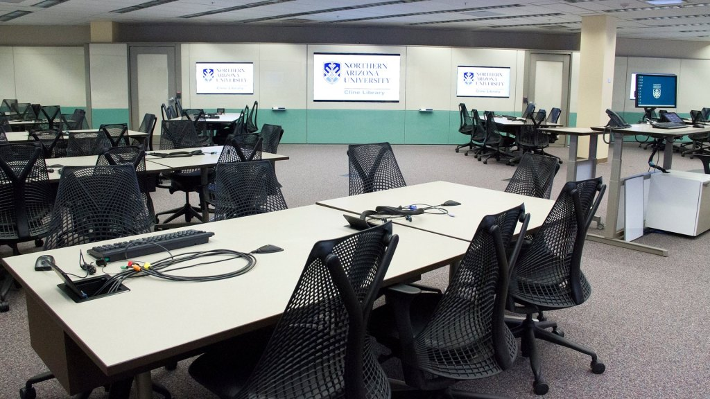 The new learning studio in the Cline Library
