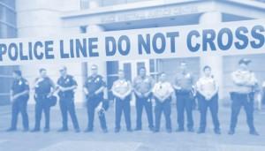 A police line.