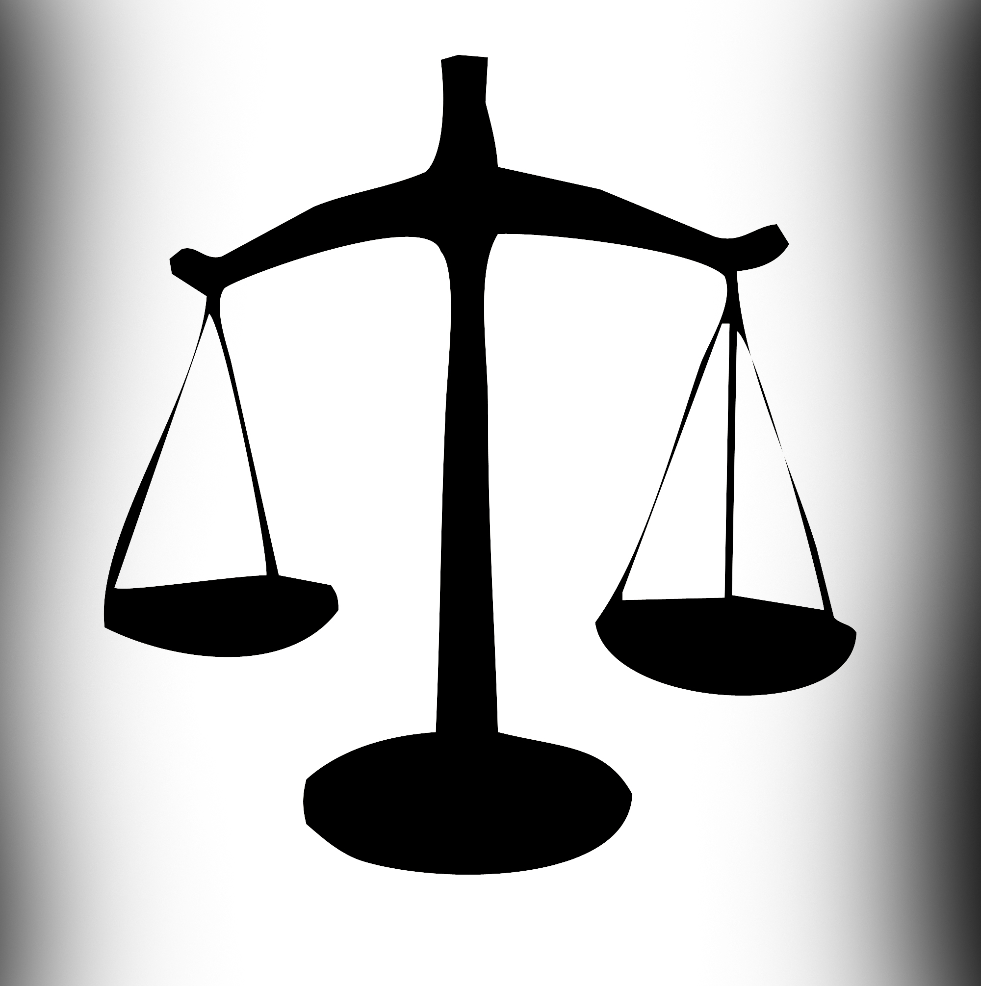 Law scales silhouette