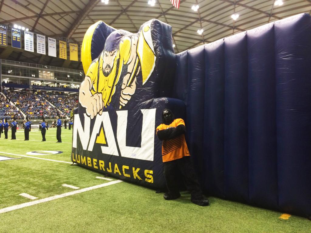 Suns Gorilla agains the NAU skydome tunnel