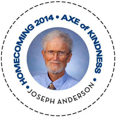 Homecoming 2014 Axe of Kindness Joseph Anderson