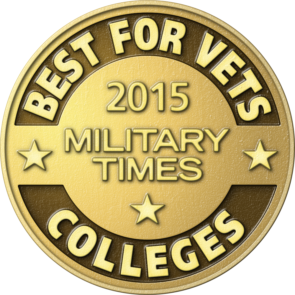 2015 Military Times Best For Vets Colleges badge