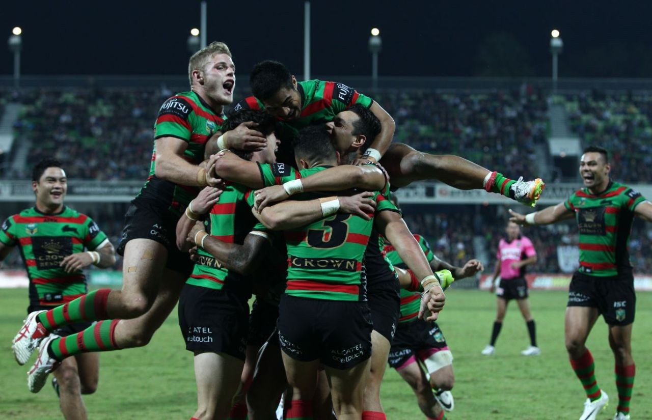 Rabbitohs celebrate victory