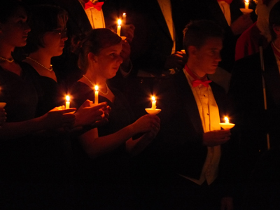 Choir with candles