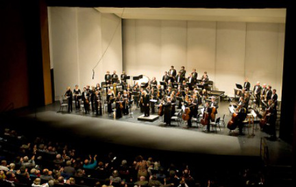 The Flagstaff Symphony Orchestra on stage
