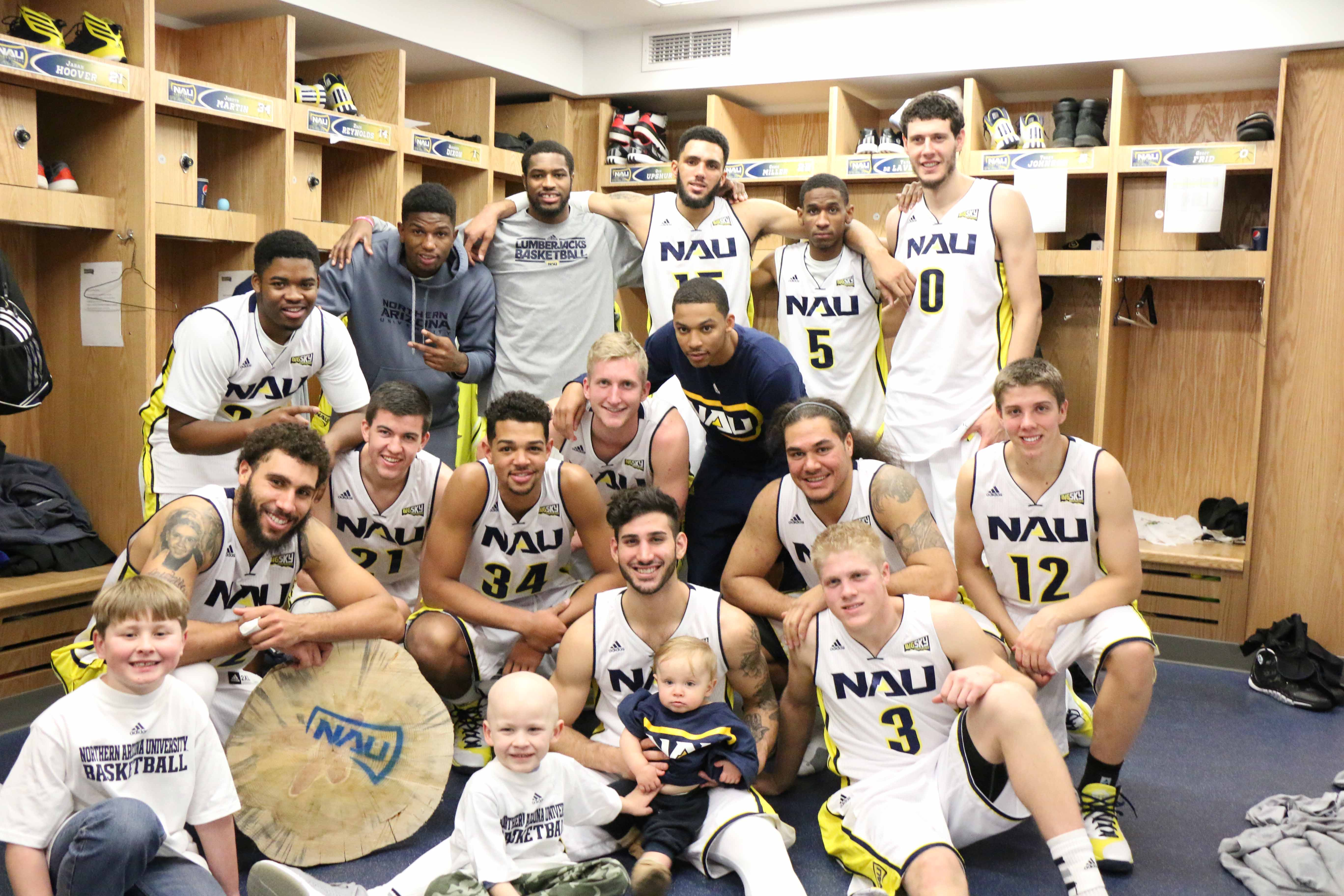 NAU Men's Basketball post game