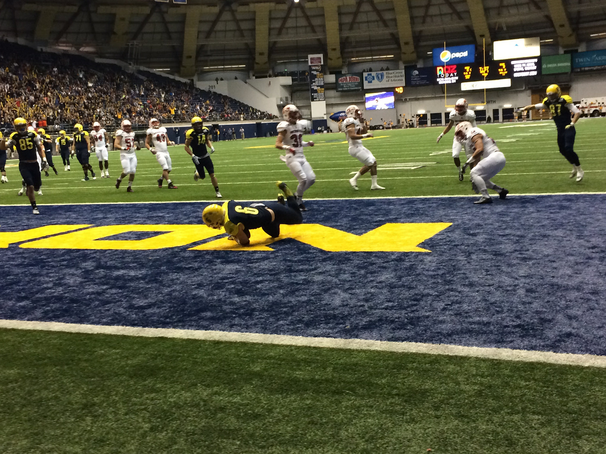 NAU football in the skydome