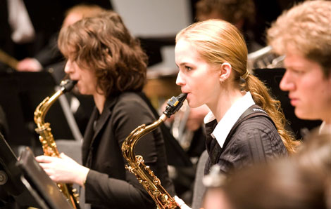 NAU saxophonist