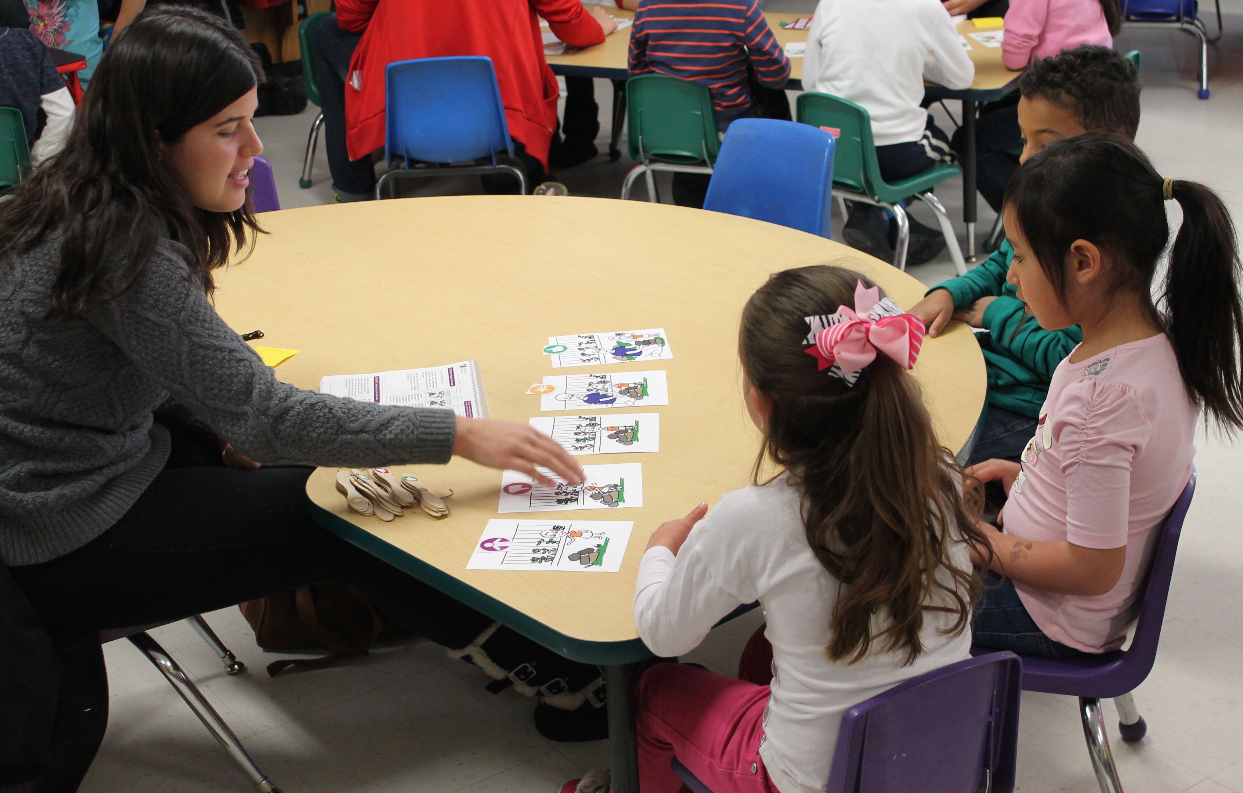 Katherine Sanchez teaching children