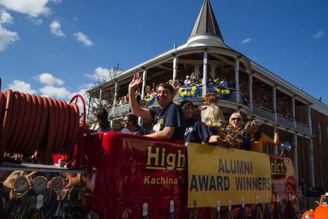 Alum Award Winners Float