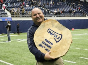 Coach Souers 100th win log