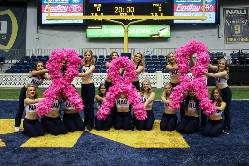Cheerleading shows its support for PINK week