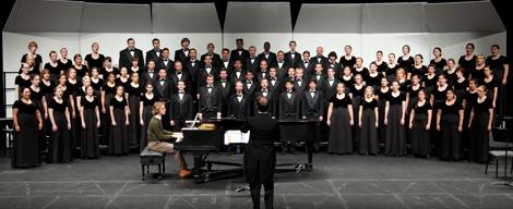 NAU choir studies in Ardrey Memorial Auditorium