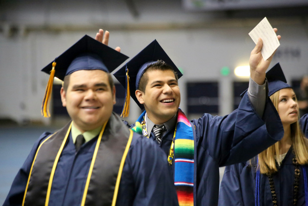 Latino Grad at Commencement