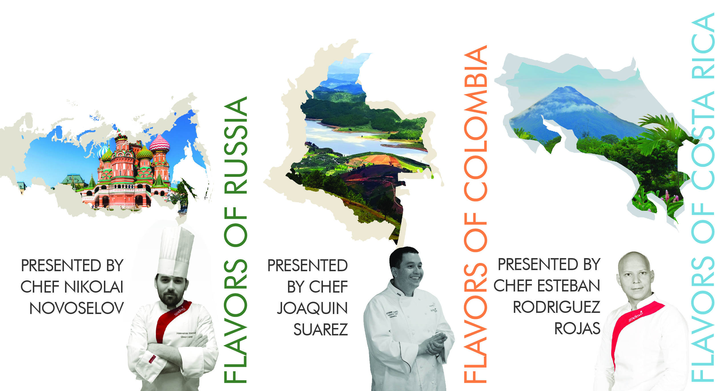 Flavors of Russia, Colombia, and Costa Rica