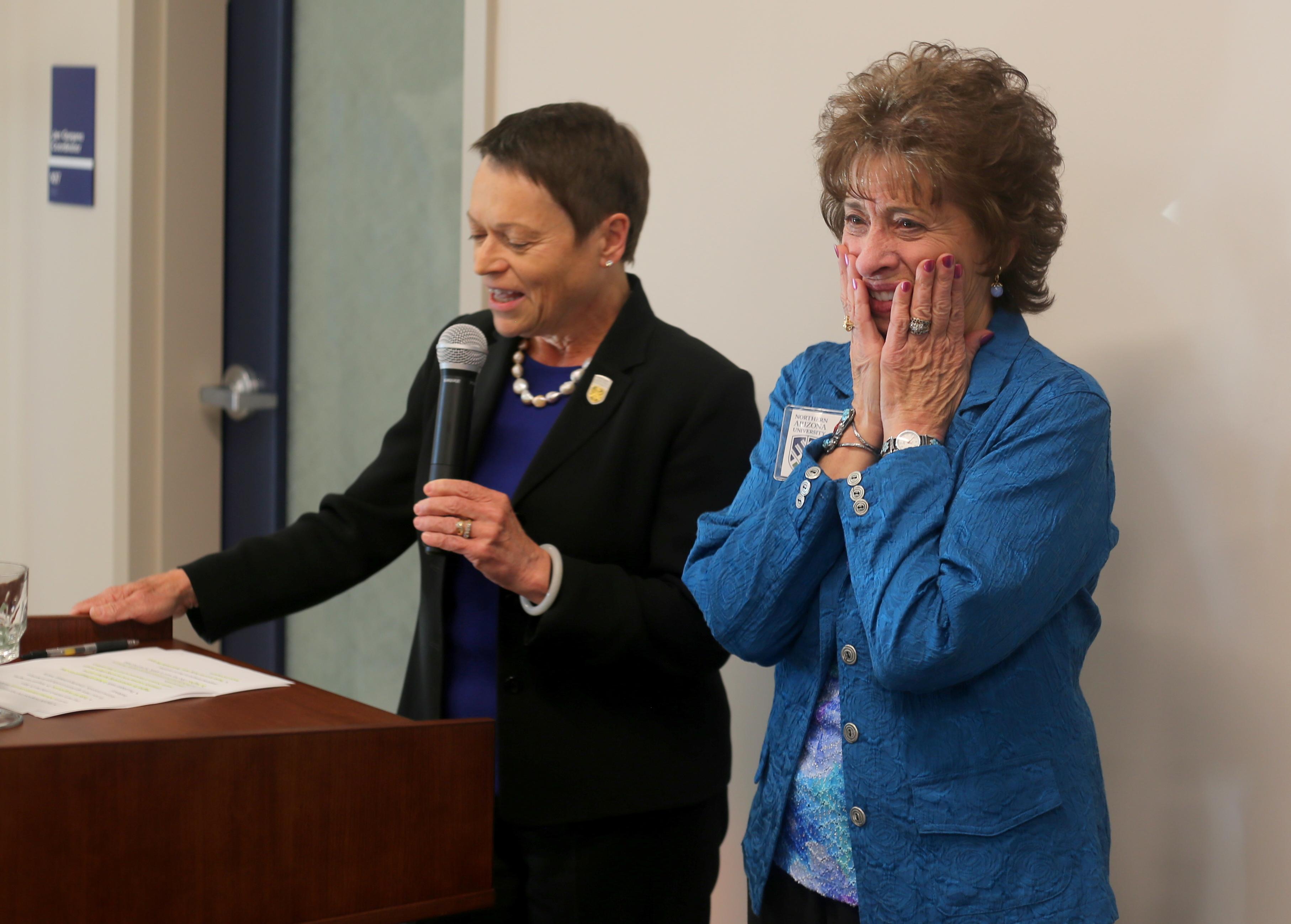 President Cheng and Margaret Ann Hughes