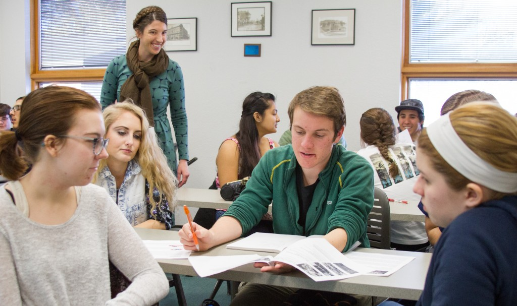 Freshman students in class at NAU