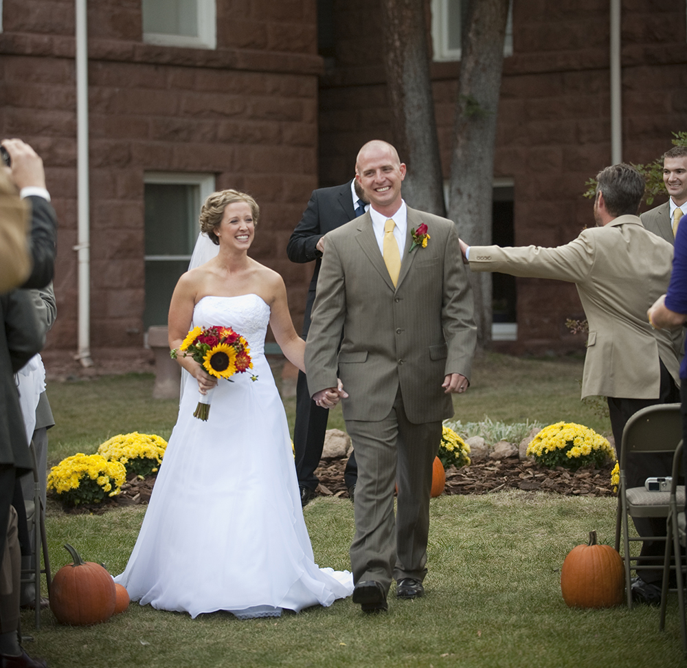 Phillips Old Main wedding