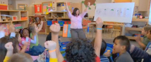 Trina Spencer in the classroom