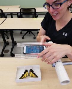 Demonstration of smartphone app
